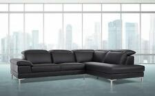 VIG Modern Divani Casa Carnation Black Eco-Leather Sectional Sofa Right Chaise