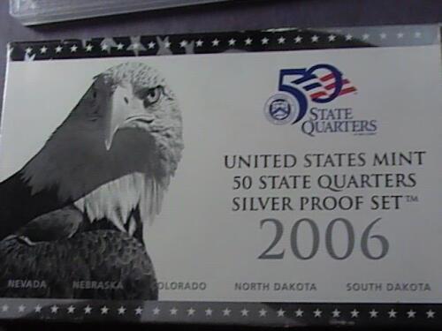 MINT-2006 SILVER STATE QUARTER PROOF SET--ORIGINAL MINT PACKAGING /& COA U.S