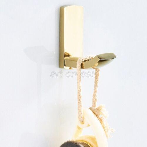 Gold Color Brass Wall Mounted Single Robe Hook Bathroom Wall Hook Hanger aba849