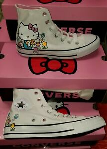 Converse Hello Kitty Womens Size 9 Chuck Taylor All Star Hi Shoes 162995C Red