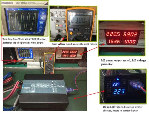 1500W Power Inverter 36V to 110V 120V 60Hz Pure Sine Wave Inverter Solar Home RV