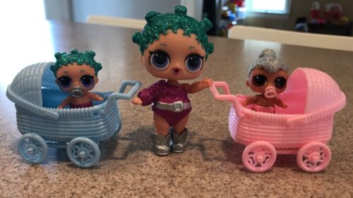 Dolls Not Included 2 Strollers for LOL Little Sister Dolls LOL Doll Accessory