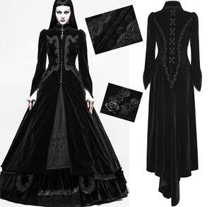 Das Bild wird geladen Samt-Mantel-Gothic -Lolita-Barock-Schleppe-Knopfen-Stickerei- 296596cd05
