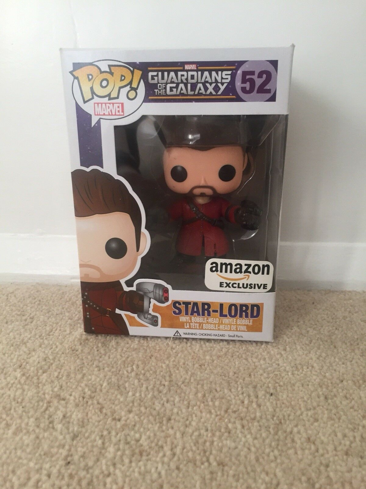 GUARDIANS OF THE GALAXY STAR-LORD UNMASKED POP VINYL FIGURE EXCLUSIVE