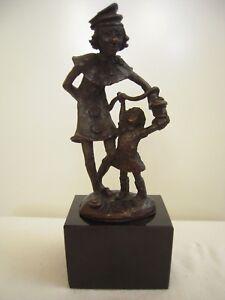 Skulptur Cliniclowns, signiert R.v.d. Houdt - Deutschland - Skulptur Cliniclowns, signiert R.v.d. Houdt - Deutschland