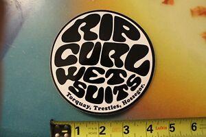 Vintage 1980 Rip Curl Wet Suits Sticker Torquay Vic Australia Small size Orange