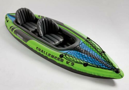 Canoa Kayak Gonfiabile 2 posti Mare cm 351x76x38 h Remi Intex Challenger K2
