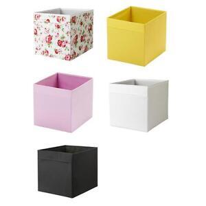 Aufbewahrungsbox Ikea ikea faltkasten dröna aufbewahrungsbox in 7 farben ebay