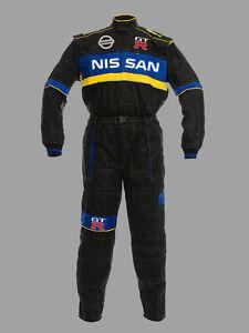 Herren-Nissan-GTR-Motorsport-Overall-Arbeitskleidung-Arbeitsoverall-Gestickt