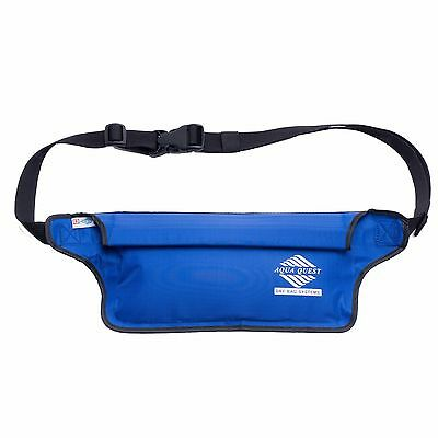 Aqua Quest AquaRoo - 100% Waterproof - Money Belt Fanny Pack Travel Pouch - Blue