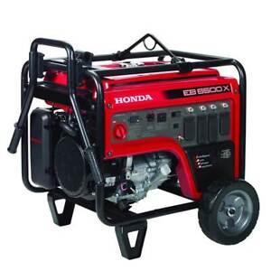 Honda EB6500X1AG 6500 Watt 120/240V Industrial Gas Generator w/ CO Minder