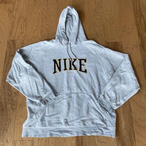 Mens Vintage Nike Middle Check Hoodie Sweatshirt S