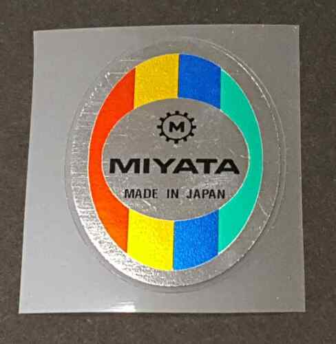 sku Miya707 Miyata Head Badge Decal Chrome Background