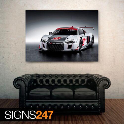 2015 AUDI R8 LMS 0014 Picture Poster Print Art A0 A1 A2 A3 A4 Car Poster