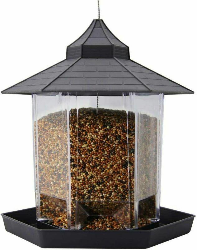 2 Wild Bird Feeders Durable Hanging Container Outdoor Garden Food Wildlife Seeds