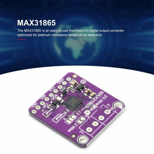 MAX31865 Platinum Resistance Temp Detector Module RTD Sensor PT100-PT1000 ZU