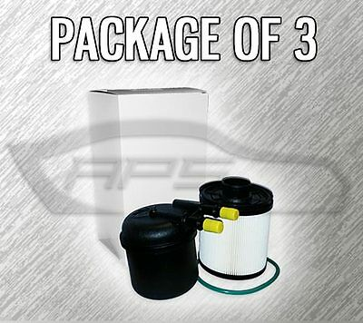 FUEL FILTER F76160 KIT FOR FORD 6.7L TURBO DIESEL - CASE OF 3 - REPLACES FD4615