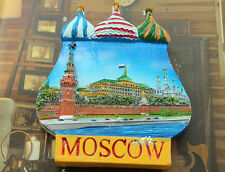 Russland Moskau Moscow Reiseandenken Souvenir 3D Polyresin Kühlschrankmagnet