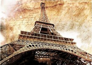 Image Is Loading ABSTRACT EIFFEL TOWER WALL ART POSTER A1 A5