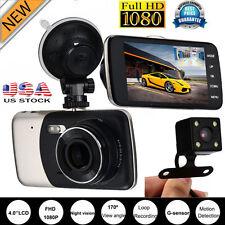 HD 1080P Dual Lens Camera  Car DVR G-sensor Vehicle Video Recorder Rear Dash Cam
