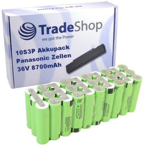 Lithium-Ion Akkupack 10S3P Panasonic NCR18650 PF 36V 8700mAh