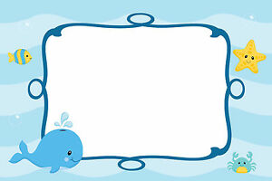 30 cards under sea blank invitations thank you note baby boy shower