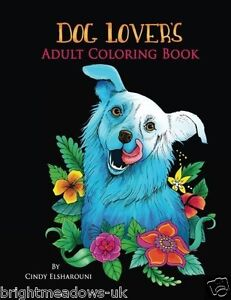 Image Is Loading Dog Lovers Adult Colouring Book Puppy Pooch Paws