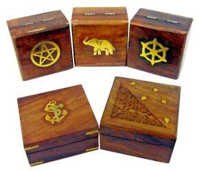 Details About Christmas Gift Ideas Wooden Gift Box Jewellery Earrings Necklace Storage Hand