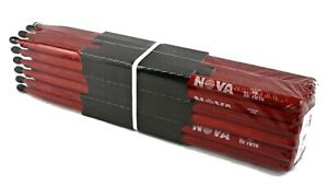 12-pr Brique Vic Firth ® Nova 5b Nylon Tip Drum Sticks N5bnr Hickory Vrac Neuf-afficher Le Titre D'origine