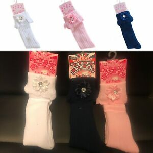 Baby Girls Pereline Tight  With BOW white Pink Red