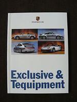 Porsche 911 & Boxster - Exclusive & Tequipment - Prospekt Brochure 08.1996