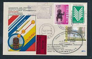 05298) Af Concorde Eilb. - Lettre Autorisée. Bogota > Caracas-paris 10.4.76, Hdb.80 €-afficher Le Titre D'origine