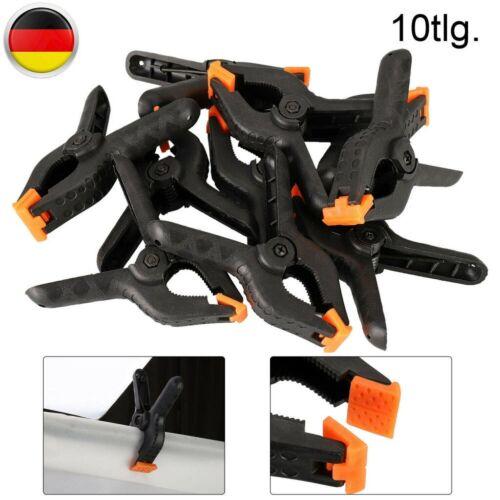 10er Set Federzwingen Leimzwinge Klemmzwinge Schraubzwinge Kantenzwinge 115mm