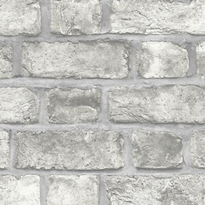 Details About Norwall Fh37517 Farmhouse Brick Prepasted Wallpaper