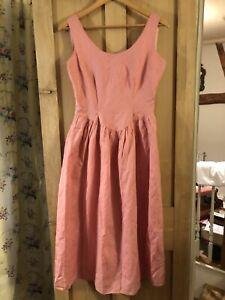vintage pretty cottagecore prairie dirndl rose pink cotton