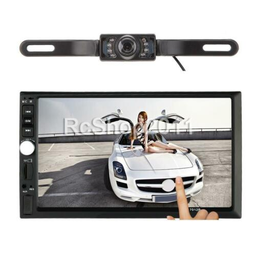 "Double 2 DIN 7"" HD 1080P Car Radio MP5 Player Bluetooth USB/TF Aux w/ Camera"
