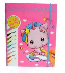 Depesche-8766-A-Manga-Model-Cute-Friends-Kreativmappe-Malbuch-incl-Fasermaler-T