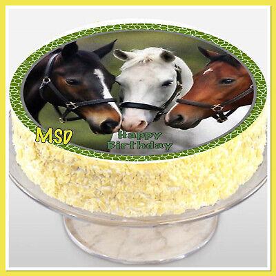 Tortenaufleger Pferde M6