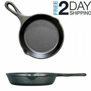 Small-Cast-Iron-Skillet-For-Eggs-Steak-Camping-Mini-Lodge-Frying-Pan-6-5-Inch