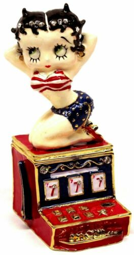 """*Retired* Betty Boop Collectible Metal Figurine Hinged Box /""""Hot Slots/"""" BB21005"""