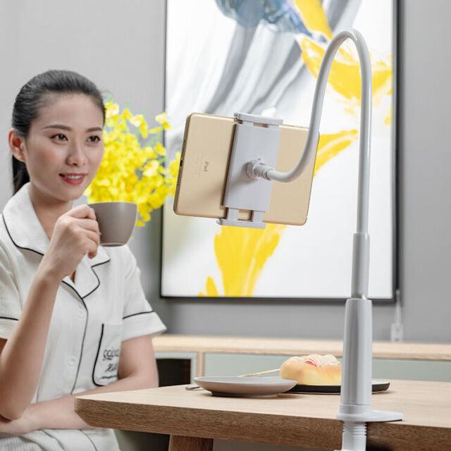 Desk Table 360 Degrees Rotating Desktop Stand Lazy Bed Tablet Holder Flexible