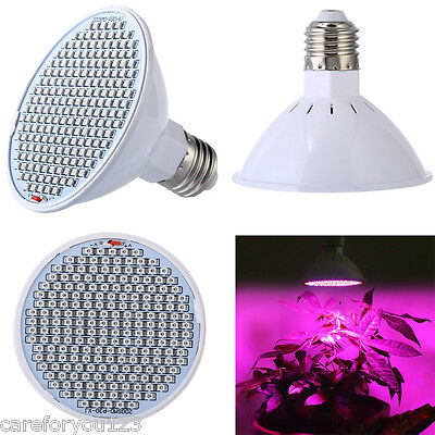 24W 200 LED Plant Grow Light E27 Red Blue Indoor Flower Veg Hydroponic Lamp us