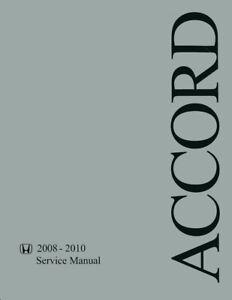 fast and free shipping 2008 2009 2010 Honda Accord Shop Service ...