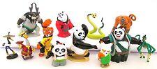 KUNG FU PANDA 12 Figure Set PVC TOY Cake Topper PO Shifu TIGRESS Mei Mei LI Kai!