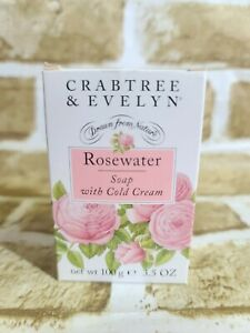Crabtree-amp-Evelyn-Rosewater-Soap-with-Cold-Cream-New-in-Box-3-5-Oz-for-Dry-Skin