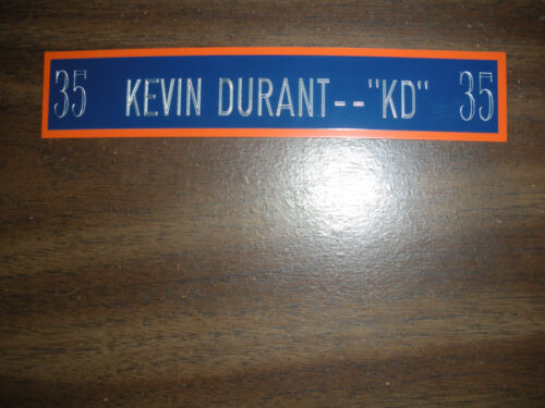 KEVIN DURANT NAMEPLATE FOR SIGNED BALL DISPLAY//JERSEY CASE//PHOTO