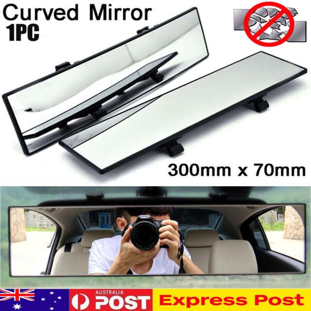 Universal 300mm Car Rear Mirror Wide-angle Rearview Mirror Auto Wide Convex Curve Interior Clip On Rear View Mirror