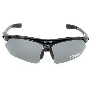 RockBros Polarized Cycling Sunglasses Sport Running Fish Goggles Glasses Black