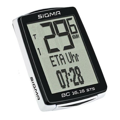 Sigma Fahrrad Computer Tacho BC 16.16 STS kabellos mit Trittfrequenz 16 Funktion