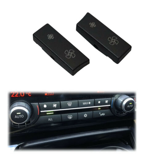 2x BMW 5 Series F10 F07 BLOWER AIR CONDITIONING Operating Switch Button Cove Cap